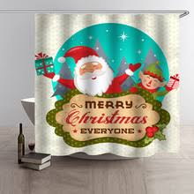 Santa Curtains Popular Christmas Curtains Santa Buy Cheap Christmas Curtains