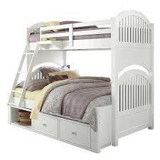 Furniture Your Zone Bunk Bed by Your Zone Collection Twin Full Bunk Bed White Woodworking Plans
