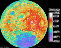 Topographical Map Of United States by A New Map Of The Moon Nasa