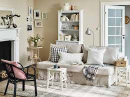 charming small space scandinavian living room painted in cream
