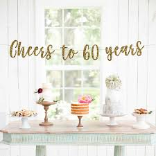 60th birthday centerpieces for tables cheers to 60 years banner 60th birthday party 60th