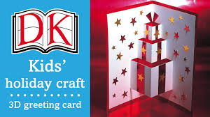 kids u0027 christmas craft 3d greetings card youtube with regard to
