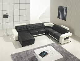 Modern Leather Sofa With Chaise Black Leather Sectional Sofa With Chaise Modern Living Room Modern