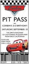 birthday invitations free printable cars pit pass birthday party