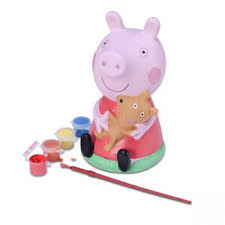 peppa pig paint piggy bank fab toys toy shop uk