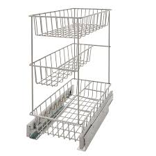 3 tier kitchen cabinet organizer closetmaid 3 tier compact kitchen cabinet pull out basket reviews