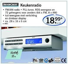 radio de cuisine lidl promotion keukenradio silvercrest radio de cuisine
