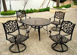patio patio furniture dining set black and white rectangle