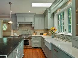 Kitchen Wall Design Ideas White Countertops Dark Cabinets White Tile Pattern Ceramic