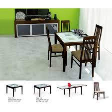 poker extendable dining room set table 4 chairs esf furniture
