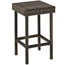 furniture rattan counter stools with backless in black for