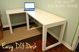 Build Cheap Desk Desk White L Shaped Desk Canada How To Make Your Own L Shaped