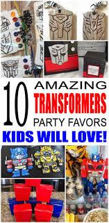 transformer party favors party favor ideas