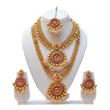 gold wedding necklace set images Necklace gold and earring gold the right choice for bridal jewelry jpg