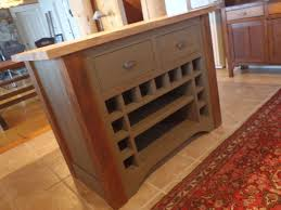 Kitchen Island Block Hand Made Kitchen Island Reclaimed With Butcher Block Top By