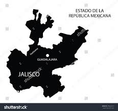 Jalisco Mexico Map Estado De Jalisco Mexico Vector Map Stock Vector 496653973