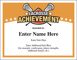 lacrosse award certificates templates new for boys and girls