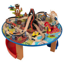 kidcraft train table dinosaur train set and table dinosaur train