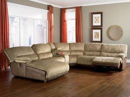 l shaped broken white leather sectional sofa with reclining and