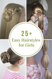 Easy Hairstyle For Girls by Easy Hairstyles For Girls The Idea Room