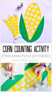 preschool corn counting activity with printable i heart crafty