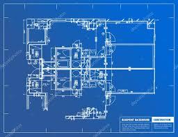 Sample Of Floor Plan Sample Of Architectural Blueprints Over A Blue Background U2014 Stock