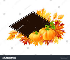 Thanksgiving Leaf Template Autumn Pumpkins Fall Maple Tree Leaves Stock Vector 448615348