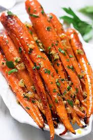 honey garlic butter roasted carrots recipe eatwell101