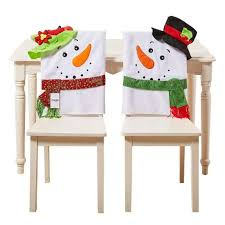 snowman chair covers top 10 best christmas chair covers 2017