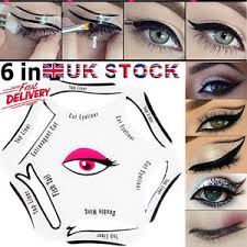 6in1 quick eyeliner stencil set makeup guide template tool perfect