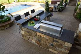 Outdoor Kitchens Kits by L Shaped Outdoor Kitchen Kits Brown Laminate Teak Wood Flooring