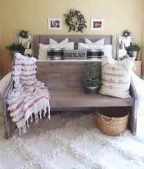 holiday master bedroom white picket farmhouse