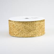 gold metallic ribbon 1 5 glitter on metallic ribbon gold 10 yards rj403008