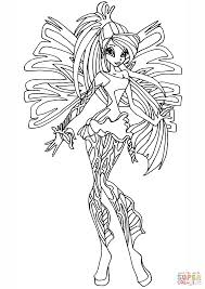 winx coloring pages with winx club sirenix bloom page coloring