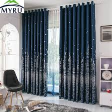 Navy Curtain Myru Mediterranean Navy Blue Curtains Rural Silver And Gold Castle