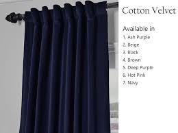 Velvet Curtains Curtain Velvet Curtains Etsy Throughout Navy Velvet Curtains