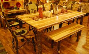 amish made hickory dining table