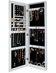 Jewelry Cabinets Wall Mounted by Amazon Com Wall Jewelry Armoires Jewelry Boxes U0026 Organizers