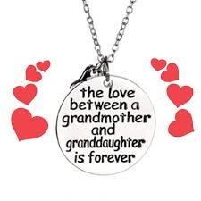 grandmother and granddaughter necklaces grandmother and granddaughter grandson necklace