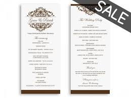 wedding program format sale wedding program template wedding programs instant