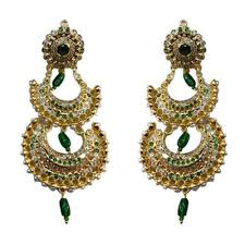 rajputi earrings artificial kundan earrings at rs 600 pair chandpole bazar