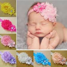 flower hairband 10 pcs set band baby girl cloth elastic flower hairband at rs