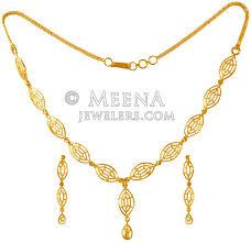 ladies necklace sets images 22 kt gold necklace set stls22953 us 1 050 22 karat gold jpg