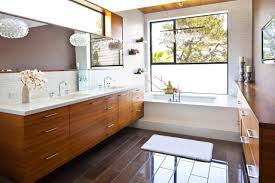 simple mid century bathroom design artistic color decor luxury