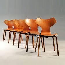 Arne Jacobsen Dining Chairs Arne Jacobsen Grand Prix Dining Chair Vt Vintage Design