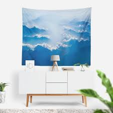 blue mountains wall tapestry wall hanging mountains photo