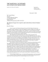 letter report disposal of legacy nerve agent ga and lewisite