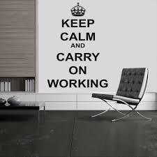 travailler dans un bureau d 騁ude gardez le calme stickers muraux citations pour bureau salle d