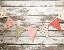 Shabby Chic Banner by Fabric Banners Etsy