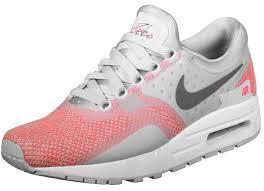 light pink nike air max air max zero se gs kids shoes grey pink neon